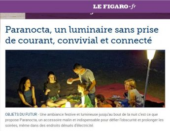 luminaire exterieur sans fil rechargeable Paranocta dans figaro.fr