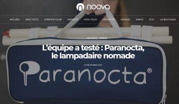 Paranocta testé par l'équipe de Noova