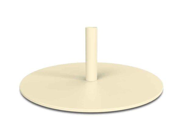 pied base blanc ivoire pour lampadaire sans fil