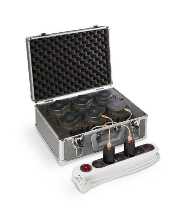 mallette de charge multiple pour lampes sur batterie