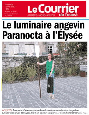 PARANOCTA, the french outdoor floor lamp at the Elysée Palace