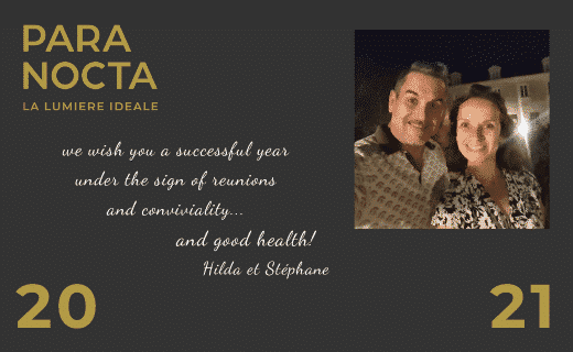The PARANOCTA team wishes you a convivial year 2021