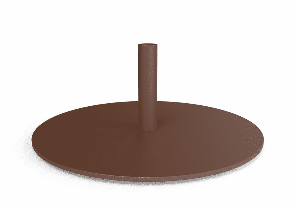 Pied base rouille sablé mat PARANOCTA